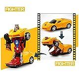 idreamtrader Auto deformazione Robot con Luce e Suono Transformer Concept Bambini di Peluche-Best Gift
