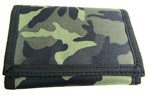 Herren / Jungen Camouflage Armee Leinen Geldbörse - Einheitsgröße, Grün/Schwarz/Braun/Beige
