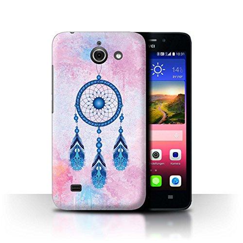Stuff4® Hülle/Case für Huawei Ascend Y550 LTE/Ombre/Blau/Träume Muster/Bunte Traumfänger-Kunst Kollektion