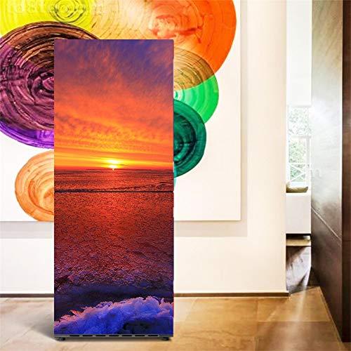 Kühlschrank Vinyl Cover (LXJ-LD Kühlschrank Aufkleber, Aufkleber Kühlschrank Wrap Cover Für Vinyl Stark Klebend Und Einfache Anwendung | Dekorativer Aufkleber Mit Intelligentem Design,60 * 180cm)