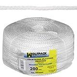 Wolfpack 16010280 - Bianco di plastica corda intrecciata (bobina 200 mt)