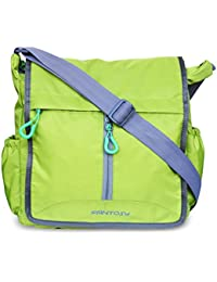 Fantosy Men Green Polyester Sidebag