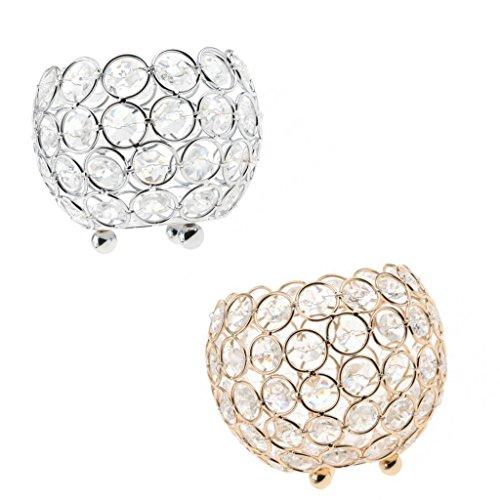 Sharplace 2weihgabe Teelichthalter Hochzeit centerpiecer 10cm Durchmesser Globe Laterne Halterung Crystal Votive