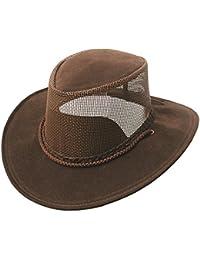 Leichter Sommerhut mit Netzeinsatz im Hutblock, pflegeleicht und Wasser geeignet in braun, beige und schwarz