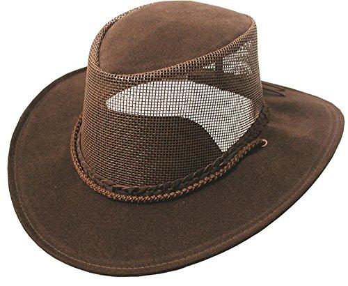 Kakadu Australia Damen Herren Sommerhut aus Mikrofaser mit Netz-Block und Kinnband - Kinnband Hut