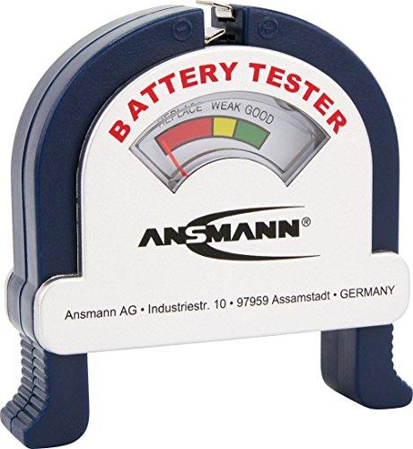 ANSMANN Battery Tester / Zuverlässiges Batterie- & Akkutestgerät zum Anzeigen der Kapazität / Kapazitätsanzeige für Akkus  Batterien & Knopfzellen - Billig-digital-skala