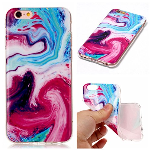"inShang apple 5.5"" iPhone 7 Plus Handy hülle, Anti Slip, Ultra Slim und leichte, weich Tasche aus TPU Material, , Cover Schutzhülle für 5.5"" iPhone 7 Plus 2017, marble pattern Multicolored"