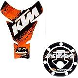 mk enterprises Reshma-E-Shop Combo KTM Inspired Tank Pad for Duke/Rc 125/200/390
