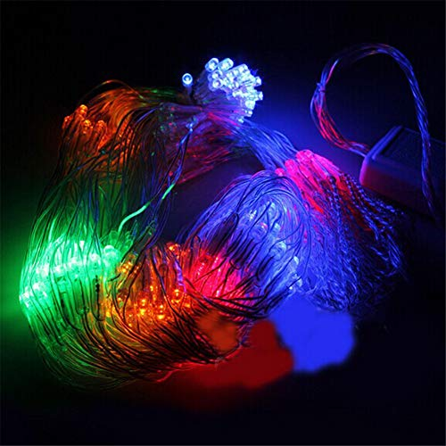 DROHE-Q Fee Netz Beleuchtung Schnur Star Bunt Multifunktion Hochzeit Dekoration LED Weihnachten Festival Warm 2 * 2m -