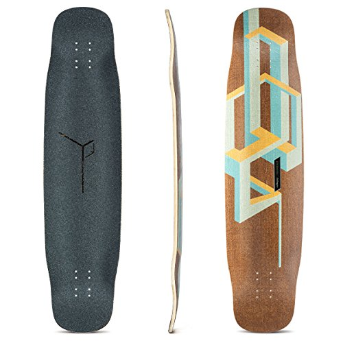 Loaded Boards Basalt Tesseract Bamboo Longboard Skateboard Deck (Mango)