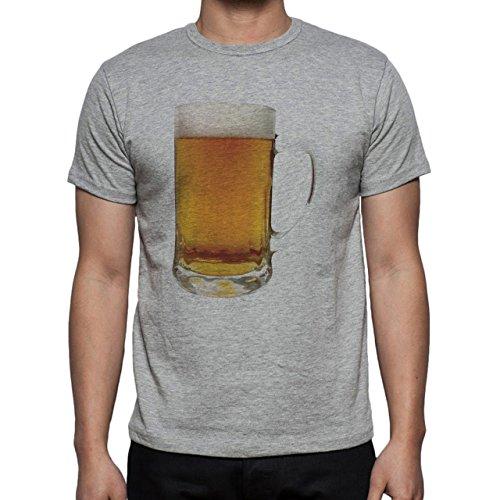 Beer Drink Oktoberfest Glass Lager Cold Herren T-Shirt Grau