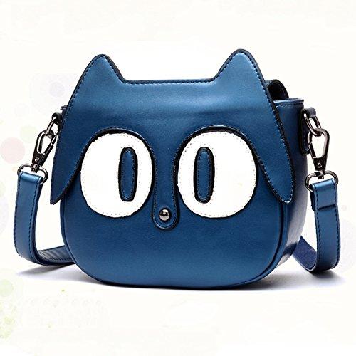 Moollyfox Style Cartoon De Chaton Sac Bandoulière Sac à Main Épaule Besace Bleu