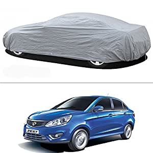 Tata Zest Car Body Cover Silver Metty