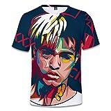 INSTO T-Shirt Lässig Kurzärmeliges T-Shirt Rapper Xxxtentacion Digitaldruck T-Shirt,A3,Xs