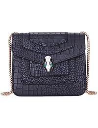 Fashion Busta con tracolla a catena singola con motivo a serpente piccolo ( nera) f4c9b468c91