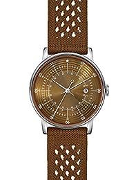 cf80745eb3b7 squarestreet Plano Swiss Cuarzo Acero Inoxidable Naranja Fecha Tela Nylon  Reloj Unisex