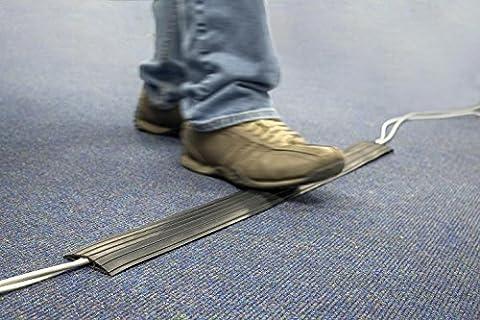 Zexum Protection de plancher en caoutchouc ultra résistant pour câble au sol Noir Convient pour les conduits, la gestion de câbles, et la création d'une rampe de câbles dans le bureaux, domiciles, entrepôts et usines 5m noir