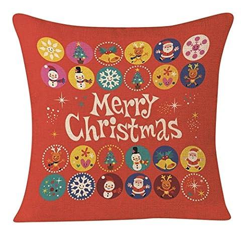 Joyeux Noël ! Reaso Série de Noël Canapé-lit Décoration intérieure Section Coussin (F)