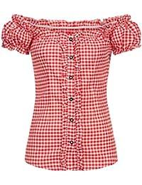 Occulto Carmenbluse | Damen Trachtenbluse | schulterfrei | original bayrisch | Baumwolle | in verschiedenen Farben | Premium Qualität