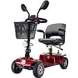 BMDHA Elektro Scooter Faltbarer Tragbarer Mobilitäts-Roller Für Die Älteren,20AH Lithiumbatterie Ausdauer 30 Km,A