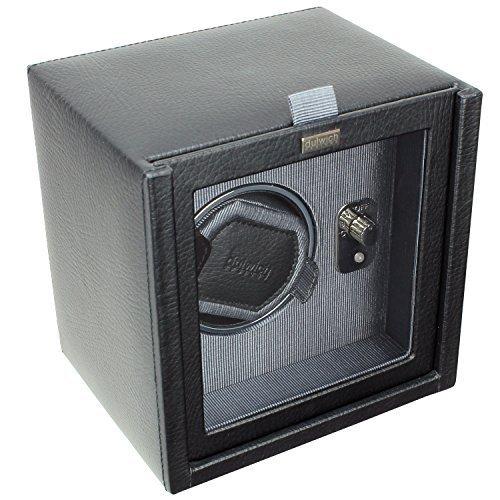 Dulwich Designs Leather Eclipse Single Watch Winder/Rotator Grey (Eclipse Home Decor)