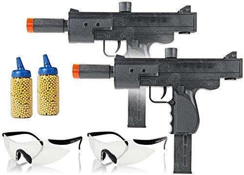 Nick and Ben Softair-Gewehr M36 2 Stück inkl. 2 Schutzbrillen u. 1000 gelbe Kugeln 6 mm schwarz unter 0,5 Joule ab 14 Jahre