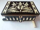 Grande enorme scatola puzzle nero caccia casella di legno chiave scomparto segreto box magica contenitore di monili il caso di immagazzinaggio intagliato a mano di gingillo regalo