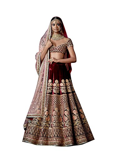 Bollywood Craze Banglori Silk Lehenga Choli (BCSA307_Blue_Free Size)