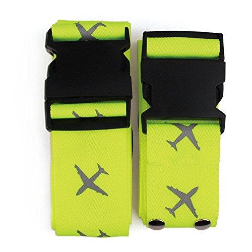 Wuudi-Reise Gepäckriemen,Lange Kreuz Gepäckgurt / Gepäckband / Koffergurt / Kofferband (gelb)