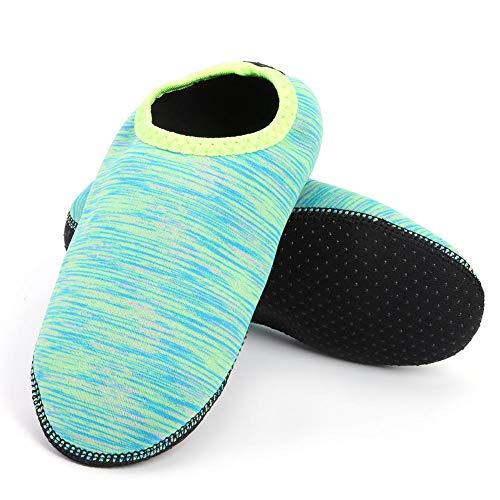 Meer Grüne Farbe Net (AFFEco Schwimmen Männer Frauen Wasser Strand Schuhe Sommer Aqua Sneakers Socken (XL Grün))