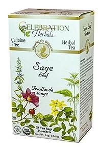 Celebration Herbals Organic Sage Leaf Caffeine Free -- 24 Herbal Tea Bags