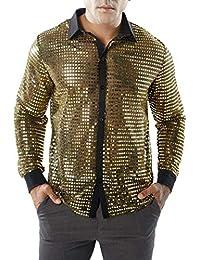 Camisas Hombre Moda ❤️AIMEE7 Camisa Calada De Moda Hombre 9aef96964146c