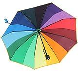 iX-brella Mini Taschenschirm rainbow pocket 16-color - Regenbogen mit 97cm