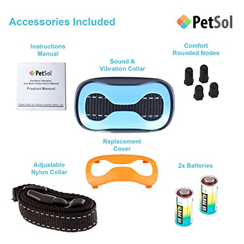 PetSol Intelligent Anti Bark Advanced Dog Stop Barking Collar, Reliably Stops Dogs Barking Safely And Humanely.