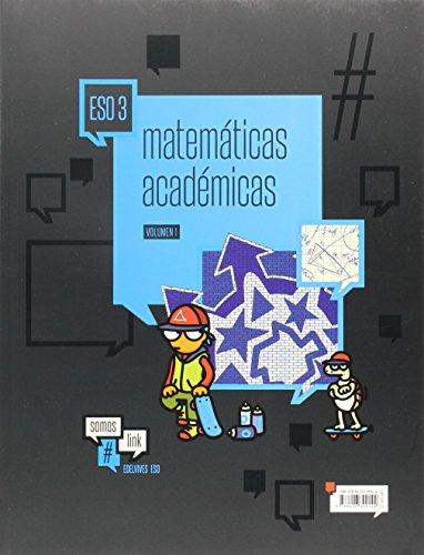 Matemáticas Académicas 3º ESO (Tres volúmenes) (Somoslink) - 9788426399144