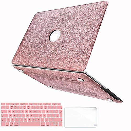 Belk Hülle für MacBook Air 13 A1932 2018 Freisetzung, 3 in 1 Bling Crystal Glatte, ultraschlanke leichte PC-Hülle mit Tastaturabdeckung für MacBook Air 13 mit Retina & Touch ID - Touch-bling