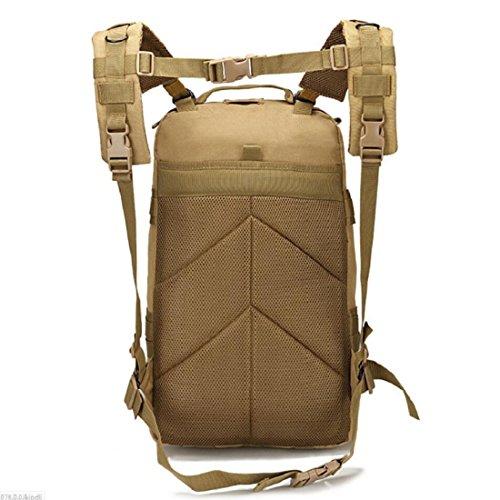 LF&F Backpack Camping outdoor Zaini Borse Oxford impermeabile borsa alpinistica portatile attacco tattico zaino Outdoor Camouflage Sport grande 3P doppio spalla 40L zaino C 40L A