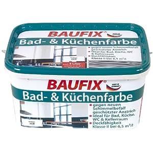 baufix bad k chenfarbe wei matt 5 liter baumarkt. Black Bedroom Furniture Sets. Home Design Ideas