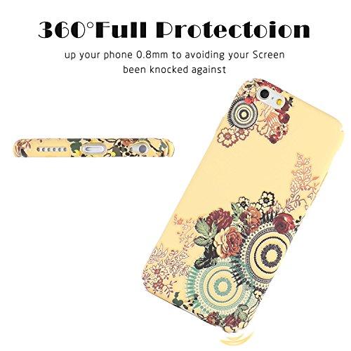 FOGEEK Schutzhülle iPhone 6 Plus Hülle : Leuchtet im Dunkeln Blume gedruckt Matte Ultra Slim und leichte Tasche Schutzhülle für iPhone 6/6s Plus -G B