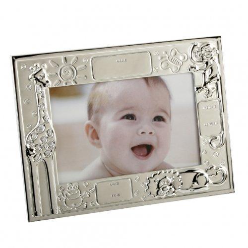 Fotorahmen Tiere incl. Gravur der Geburtsdaten, versilbert