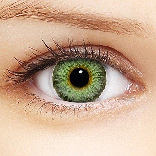 Linsenfinder Farbige Kontaktlinsen Grün '3Tones Pure Hazel' + Behälter für HELLE Augen ohne und mit Stärke grüne Kontaktlinsen farbig