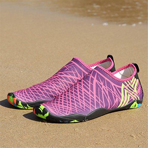 SAGUARO® Unisex Scarpe da Acqua Spiaggia Scoglio Nuotare Rapida Asciugatura Scarpette da Surf Yoga Estate Donna Uomo Rosa
