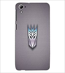 PrintDhaba Transformer Logo D-1710 Back Case Cover for HTC DESIRE 826 (Multi-Coloured)