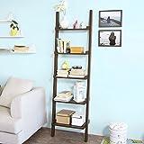 SoBuy® Estanterias librerias,Estanterias de diseño,Estantería de pared,5 estantes, FRG17-BR, ES