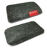 Premium - Filzhülle 4,7 Zoll - 11,93 cm - Universelles Premium Luxury Handy Case Hülle Cover Tasche - Filz Grau - theveryme