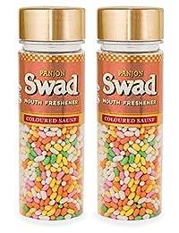 Panjon Swad Mouth Freshener Coloured Saunf (2 Bottles x 160g)