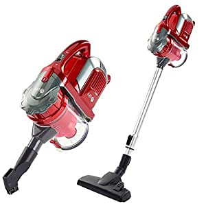 Dihl VC-HH216-RED Hand Held Cordless Vacuum Cleaner, 0.8 Litre, 21.6 V, Grey and Red