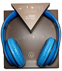 Ubon BT-5800 wireless Bluetooth headphone with card support and pure stereo wireless sound - color sky blue