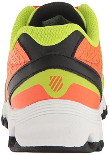 K-Swiss X-160 Synthétique Chaussure de Tennis Neon-Orange-Black