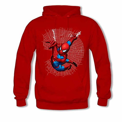 Womens Hoodies Spiderman and Spider web Print Sweatshirts S